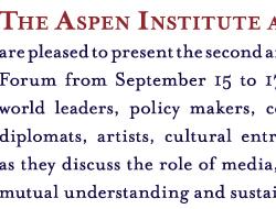 The Aspen Institute GICS Cultural Diplomacy Forum 2009 Print Ad