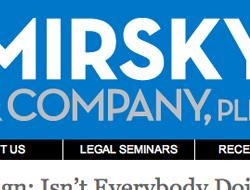 Mirsky Legal PLLC Wordpress Homepage